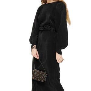 New TopShop Boatneck Plisse Midi Dress